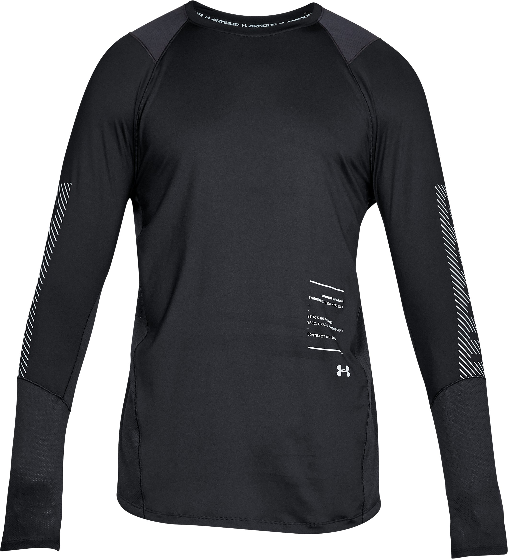 Men's UA MK-1 Graphic Long Sleeve Shirt, Black ,