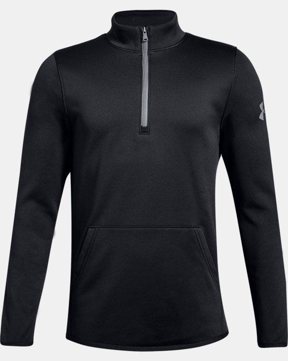 Boys' Armour Fleece® Elevate ¼ Zip, Black, pdpMainDesktop image number 0