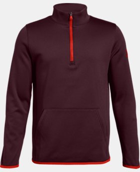 Boys' Armour Fleece® Elevate ¼ Zip LIMITED TIME ONLY 7  Colors Available $35