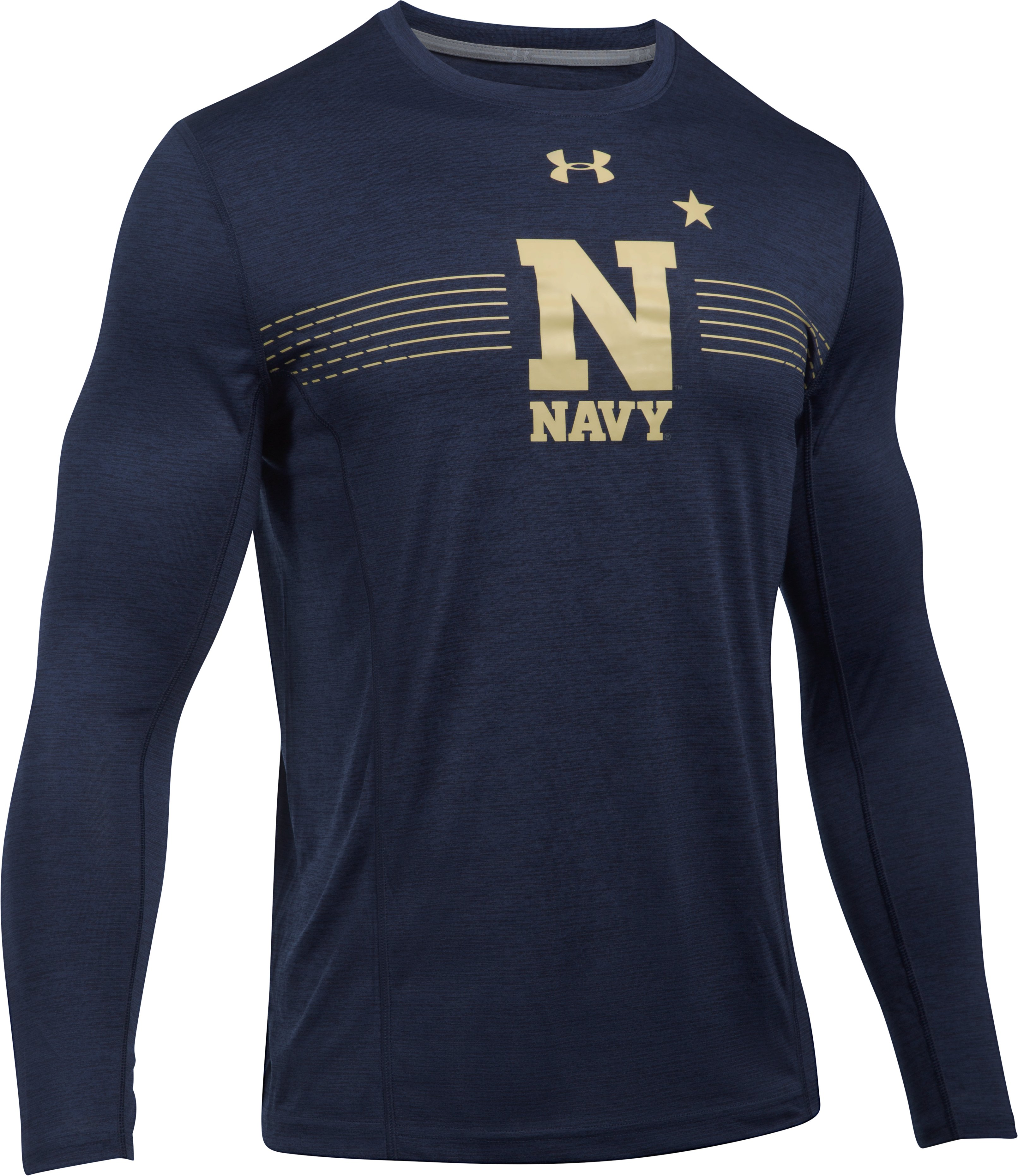 Men's Naval Academy Long Sleeve Training T-Shirt, Midnight Navy, undefined