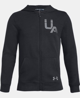 Boys' UA Rival Logo Full Zip  1  Color Available $34.99