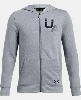 New Arrival  Boys' UA Rival Logo Full Zip  1  Color Available $50