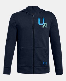7f75e80d8 Boys  UA Rival Logo Full Zip 1 Color Available  34.99