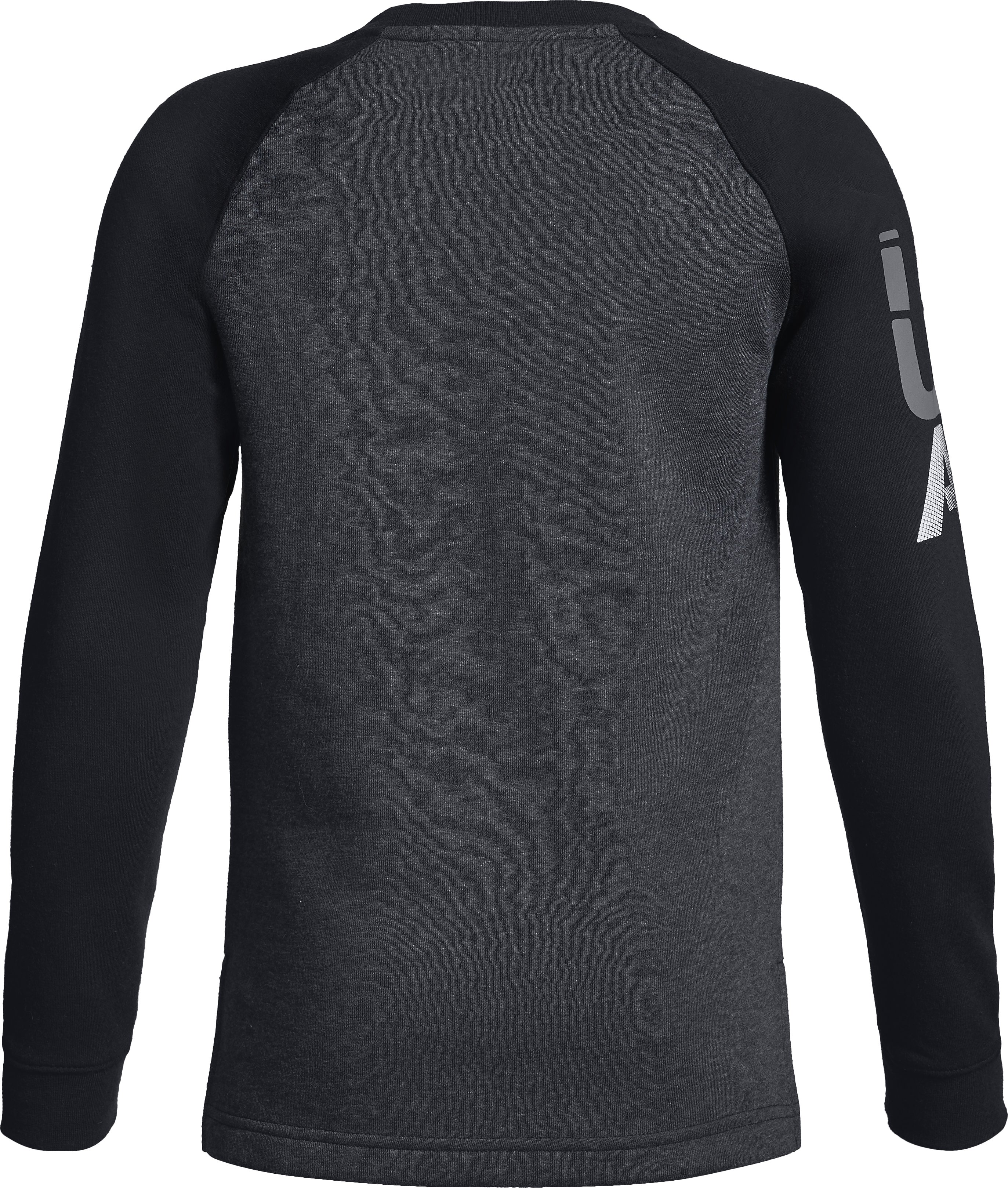 Boys' UA Rival Crew, BLACK LIGHT HEATHER,