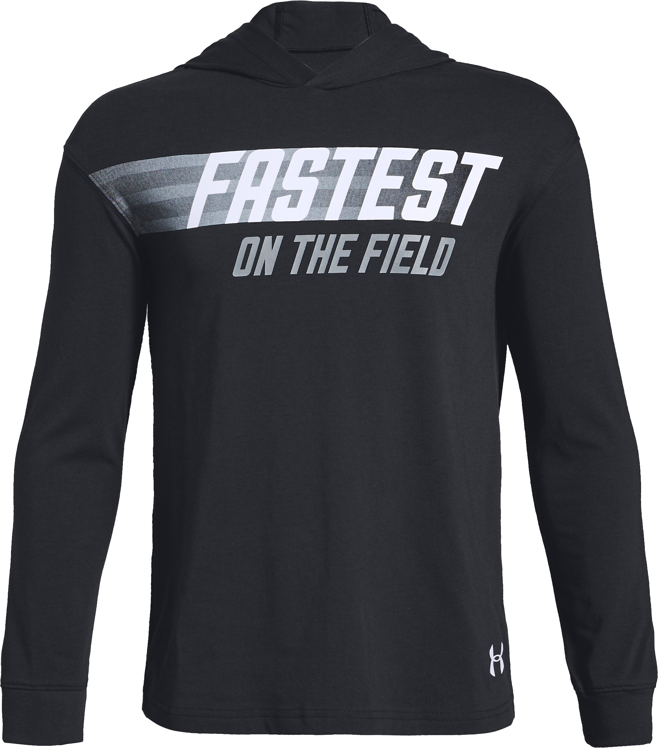 Boys' UA 'Fastest' Graphic Hoodie, Black