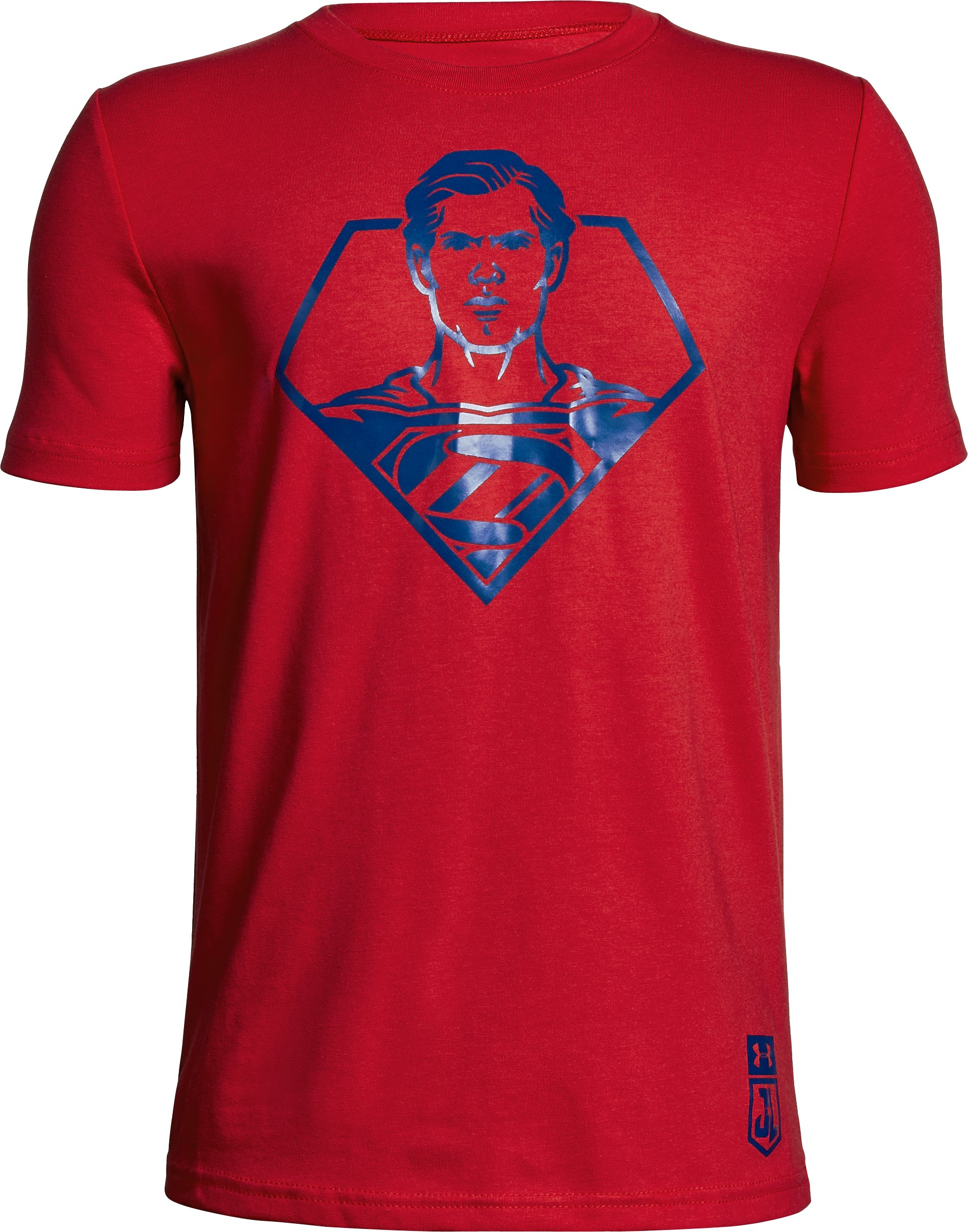 Boys' Under Armour® Alter Ego Justice League Superman T-Shirt, Red, zoomed