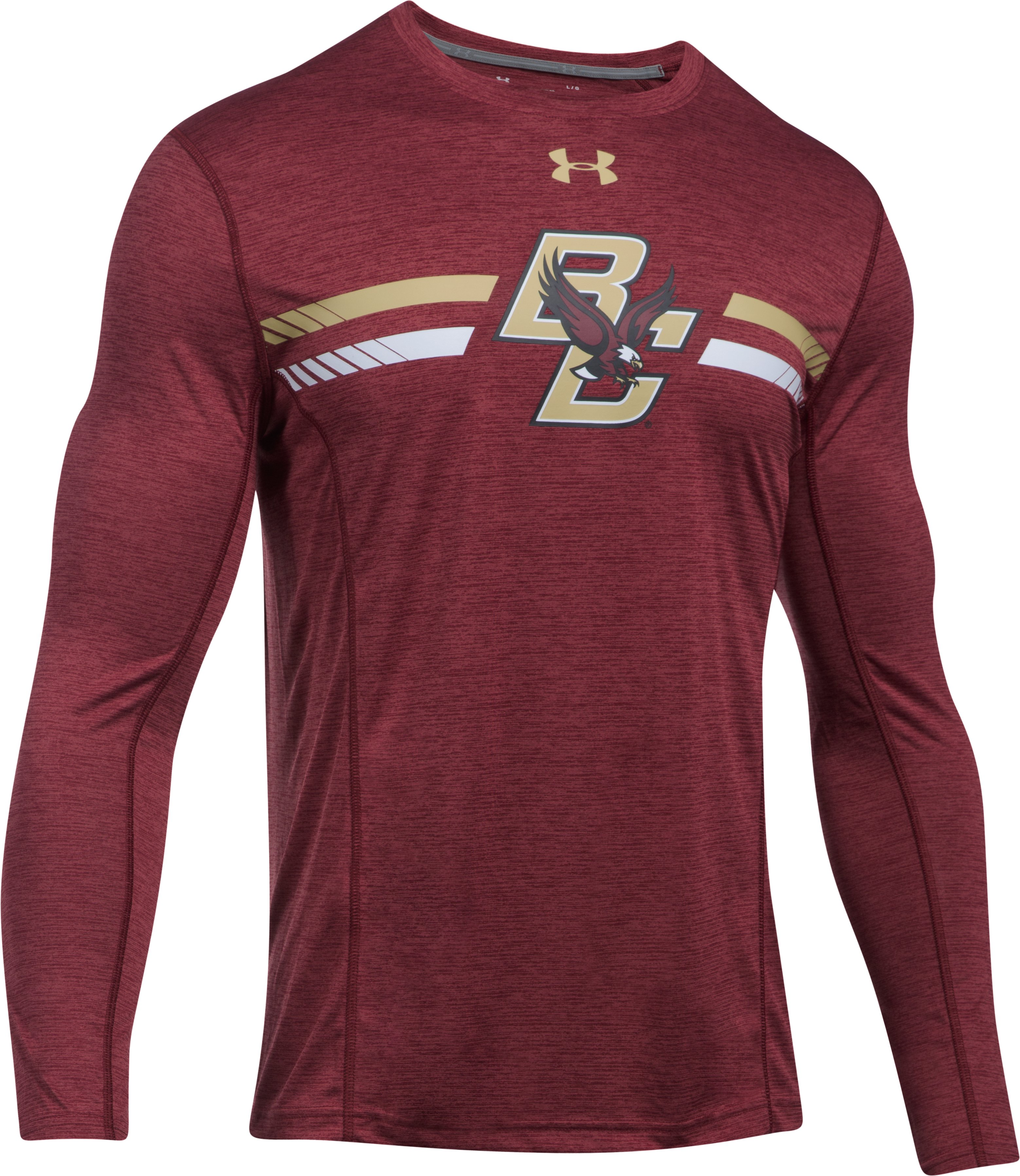 Men's Boston College Long Sleeve Training T-Shirt, Maroon
