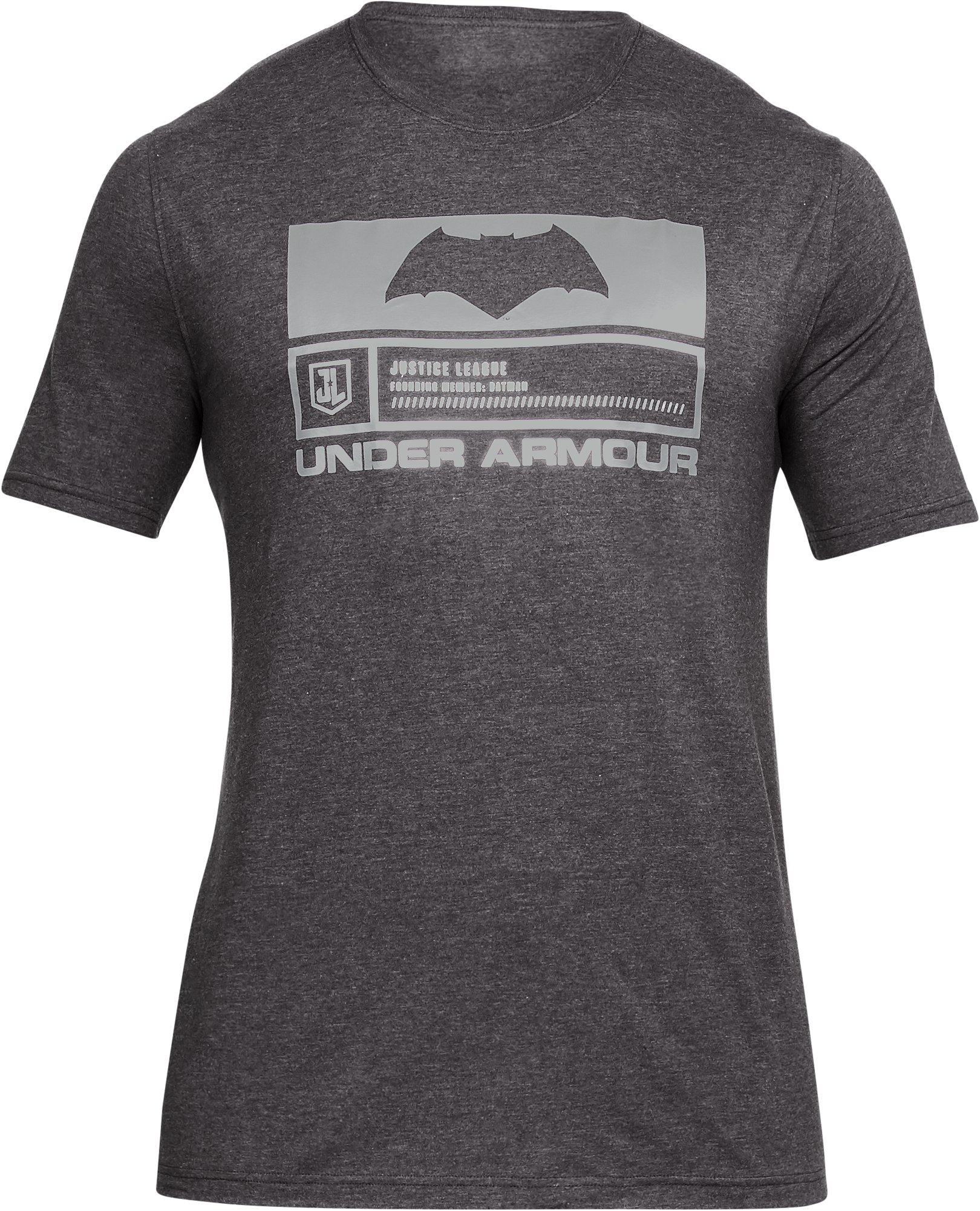 Men's UA Justice League Batman T-Shirt , CHARCOAL MEDIUM HEATHER,
