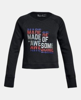 300475cd7105 Girls  UA Rival Fleece Crew 1 Color Available  24
