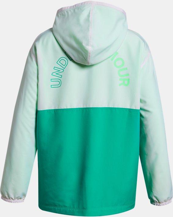 Girls' UA Coaches Jacket, White, pdpMainDesktop image number 1