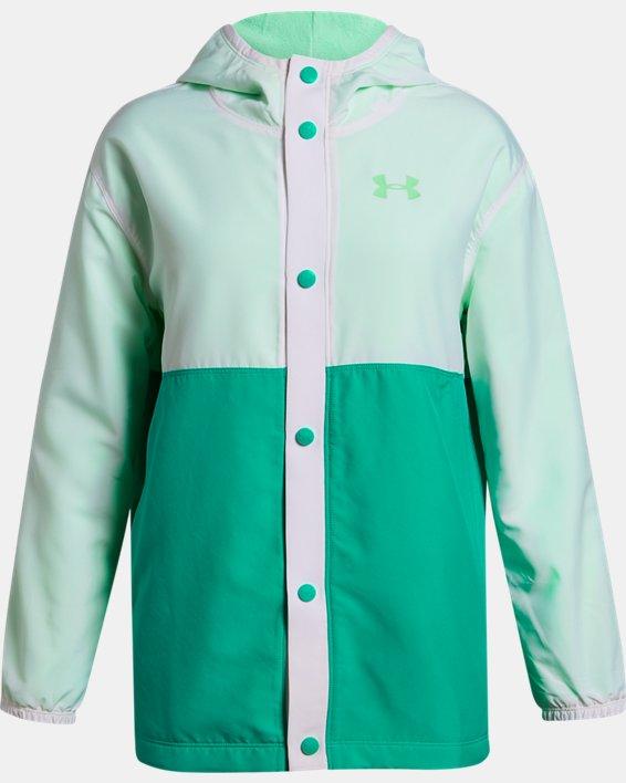 Girls' UA Coaches Jacket, White, pdpMainDesktop image number 0