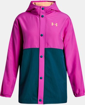 Girls' UA Phenom Coaches Jacket  1  Color Available $56