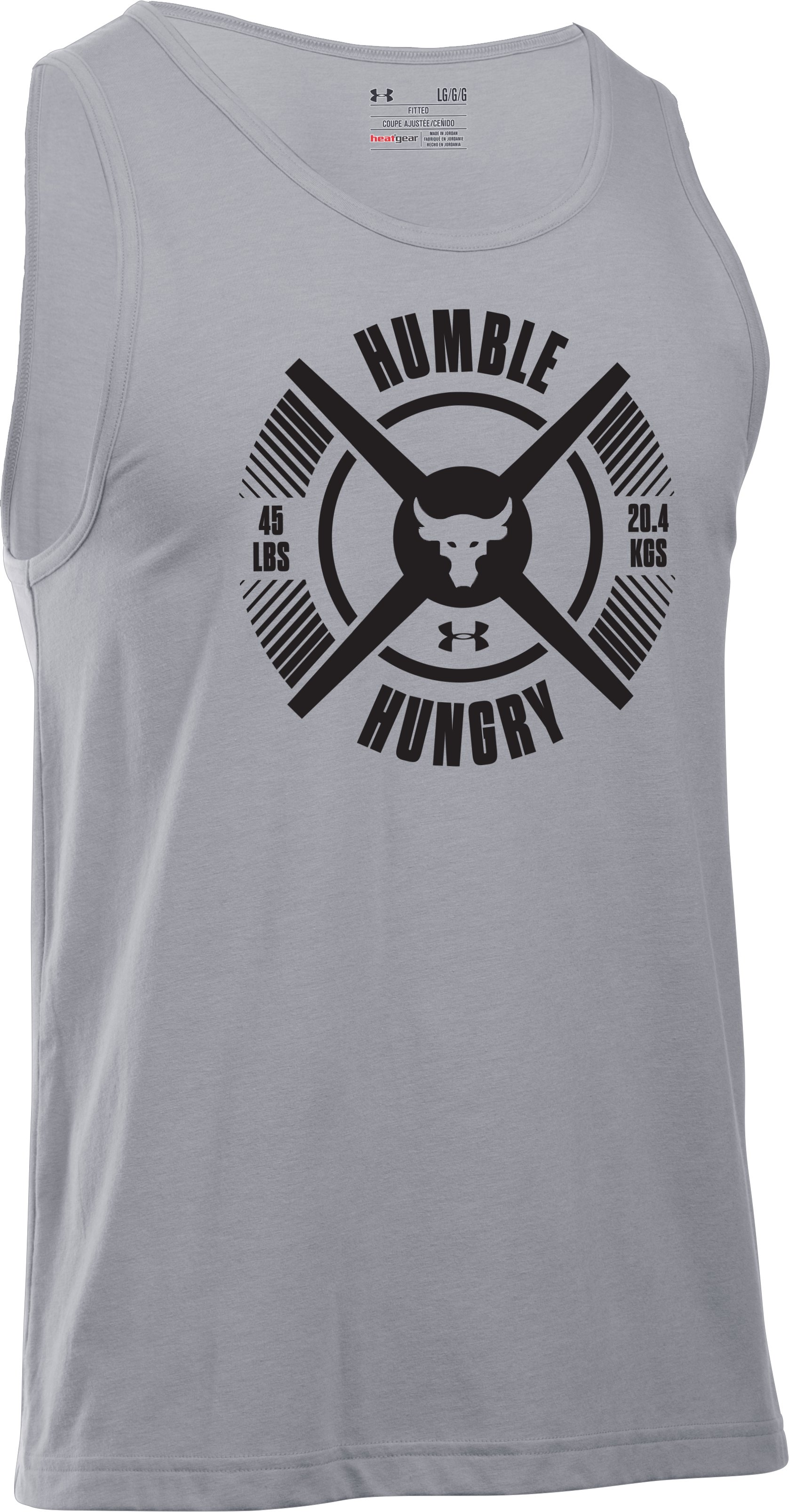 Men's UA x Project Rock Hungry Tank, STEEL LIGHT HEATHER, undefined