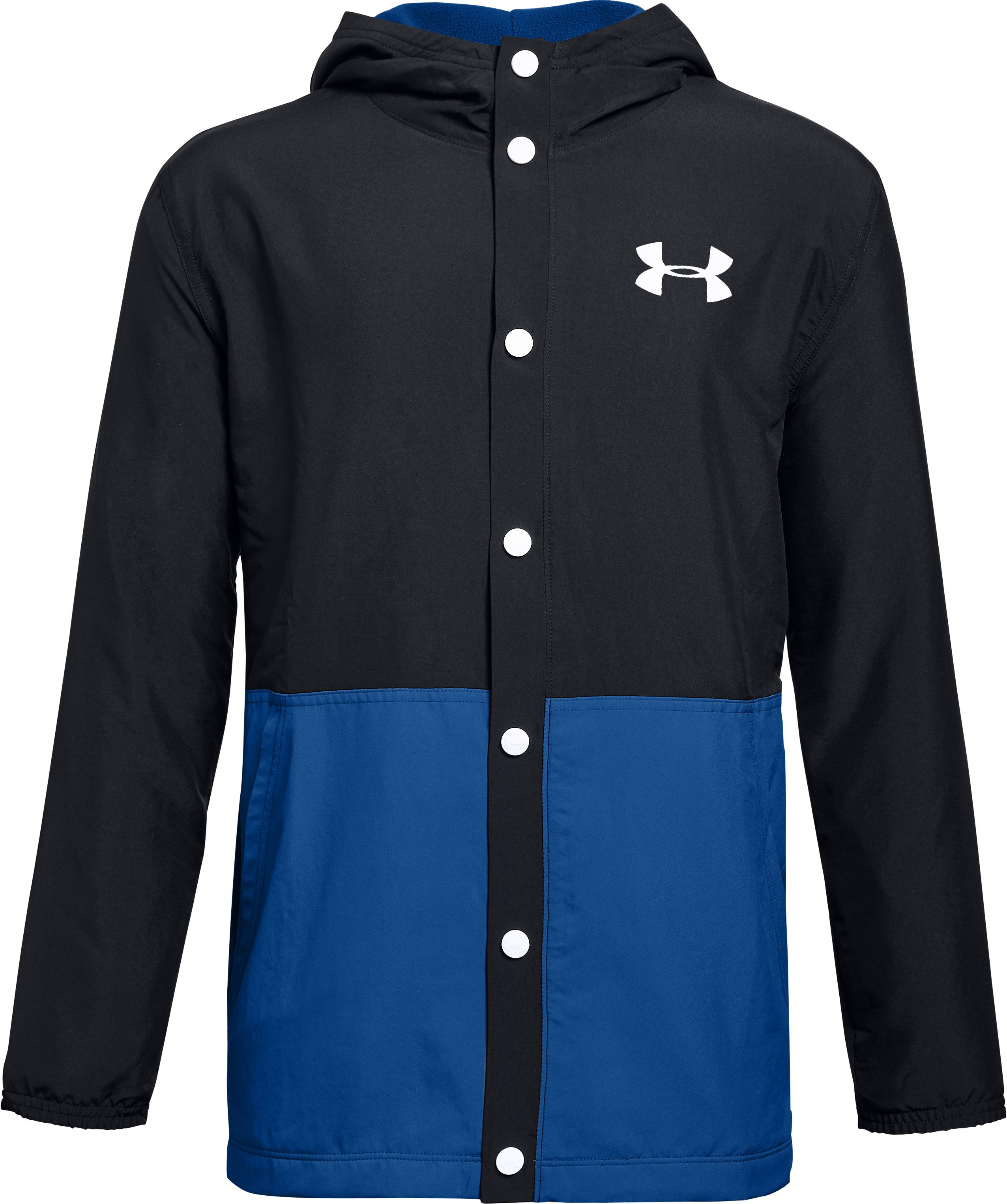 Boys' UA Phenom Coaches Jacket, Black ,