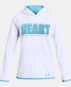 New Arrival Girls' Armour Fleece® 'Heart' Hoodie  1  Color Available $40