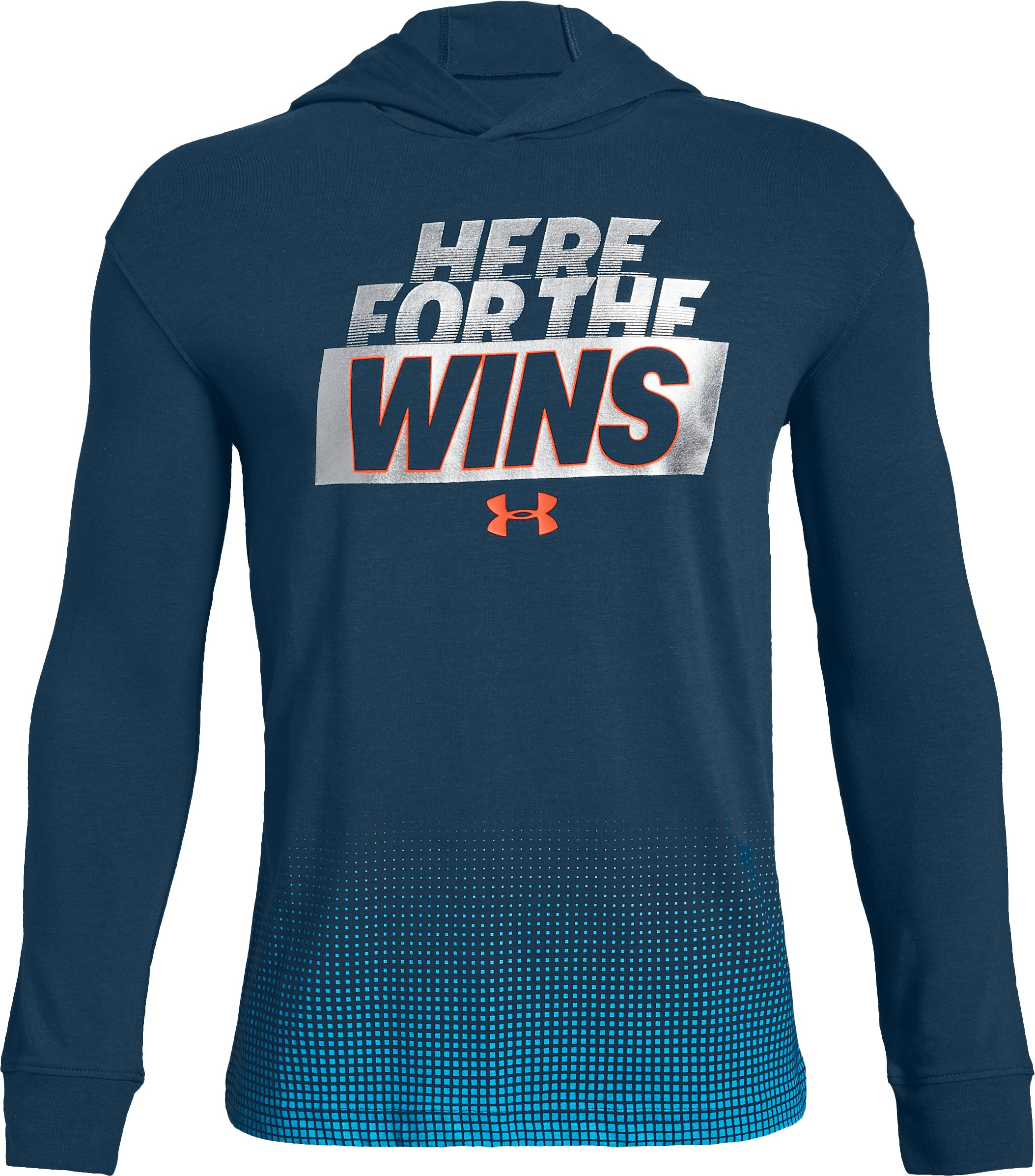 Wins Graphic LS Hoody, Techno Teal, zoomed