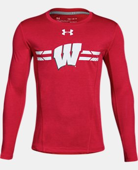 Boys' Wisconsin Long Sleeve Training T-Shirt  1  Color Available $37.99
