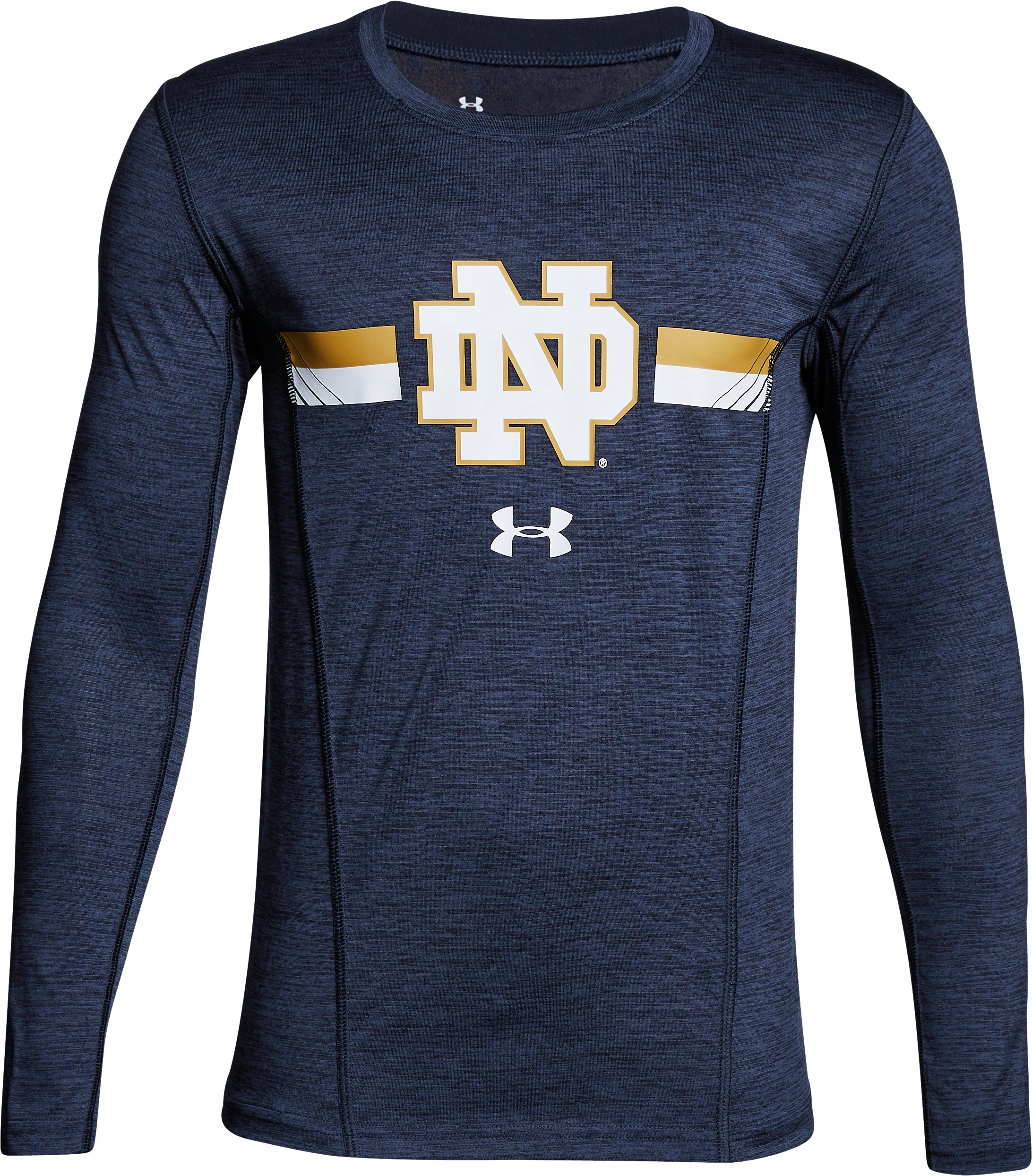 Boys' Notre Dame Long Sleeve Training T-Shirt, Midnight Navy, undefined