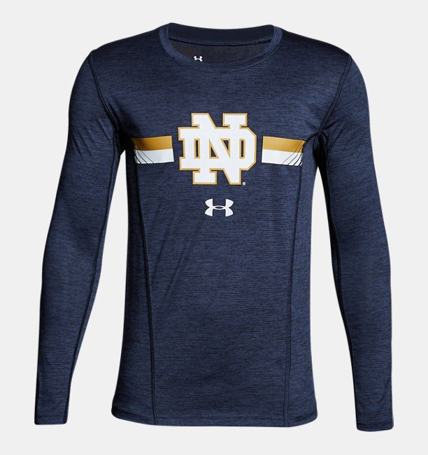 boys 39 notre dame long sleeve training t shirt under