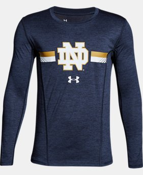 Boys' Notre Dame Long Sleeve Training T-Shirt  1 Color $37.99