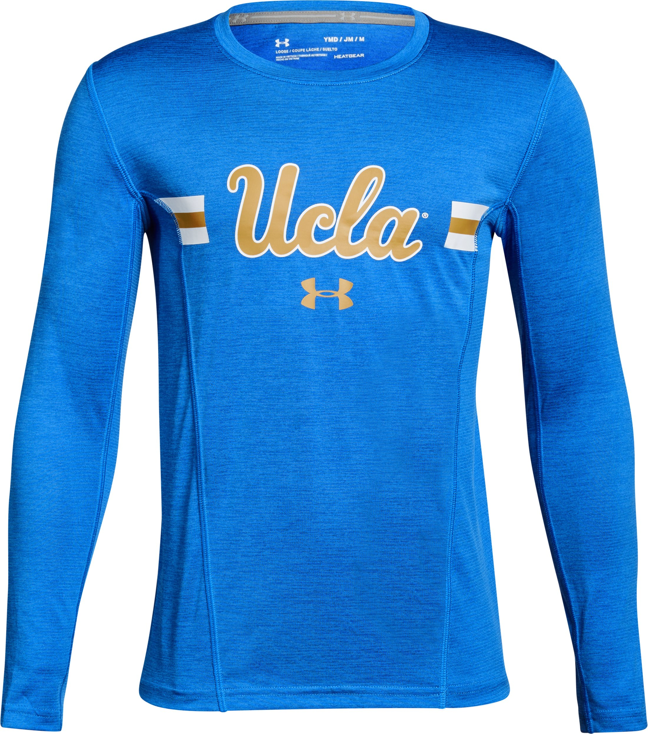 Boys' UCLA UA Training Long Sleeve T-Shirt, POWDERKEG BLUE,