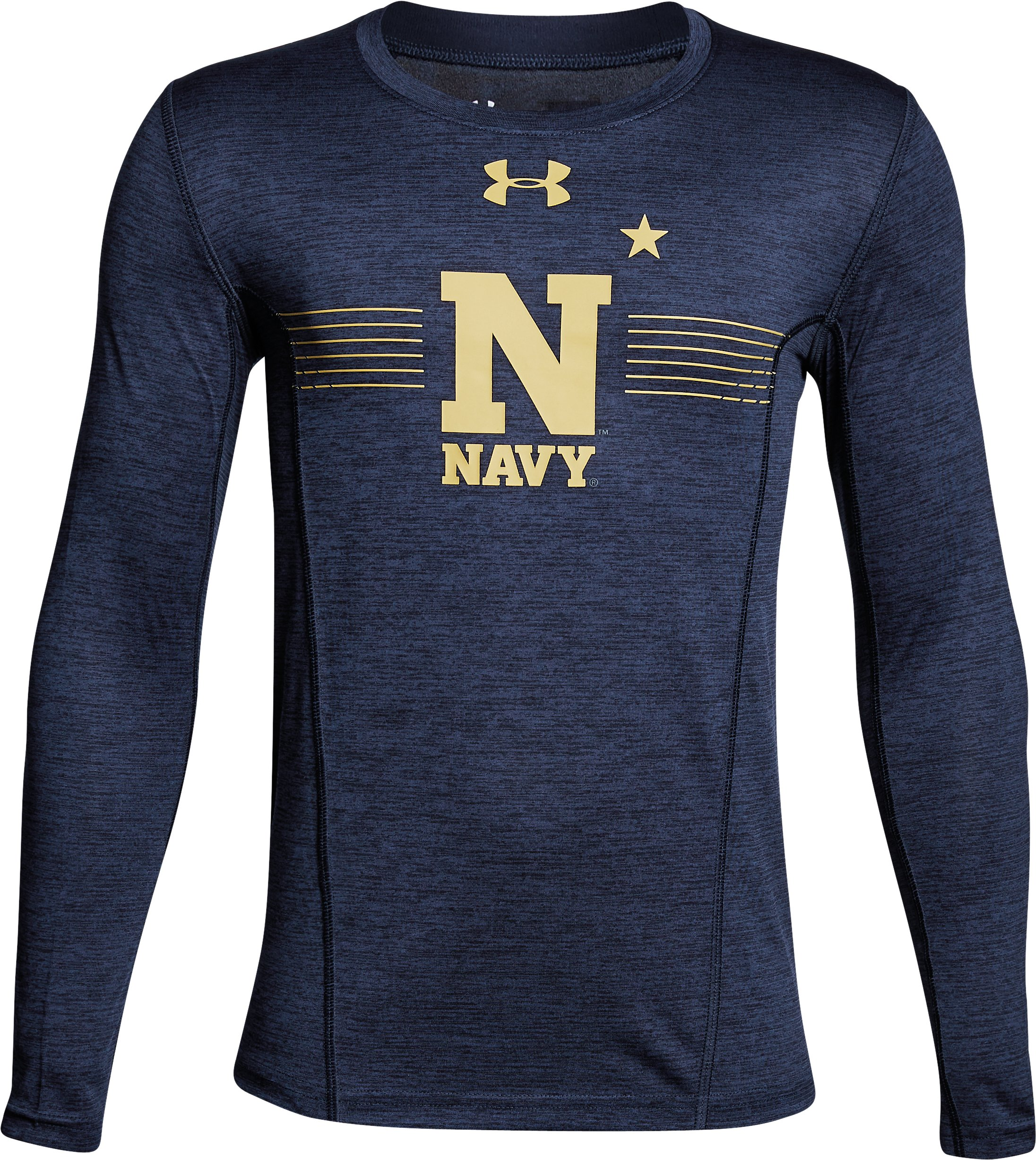 Boys' Naval Academy Long Sleeve Training T-Shirt, Midnight Navy, undefined