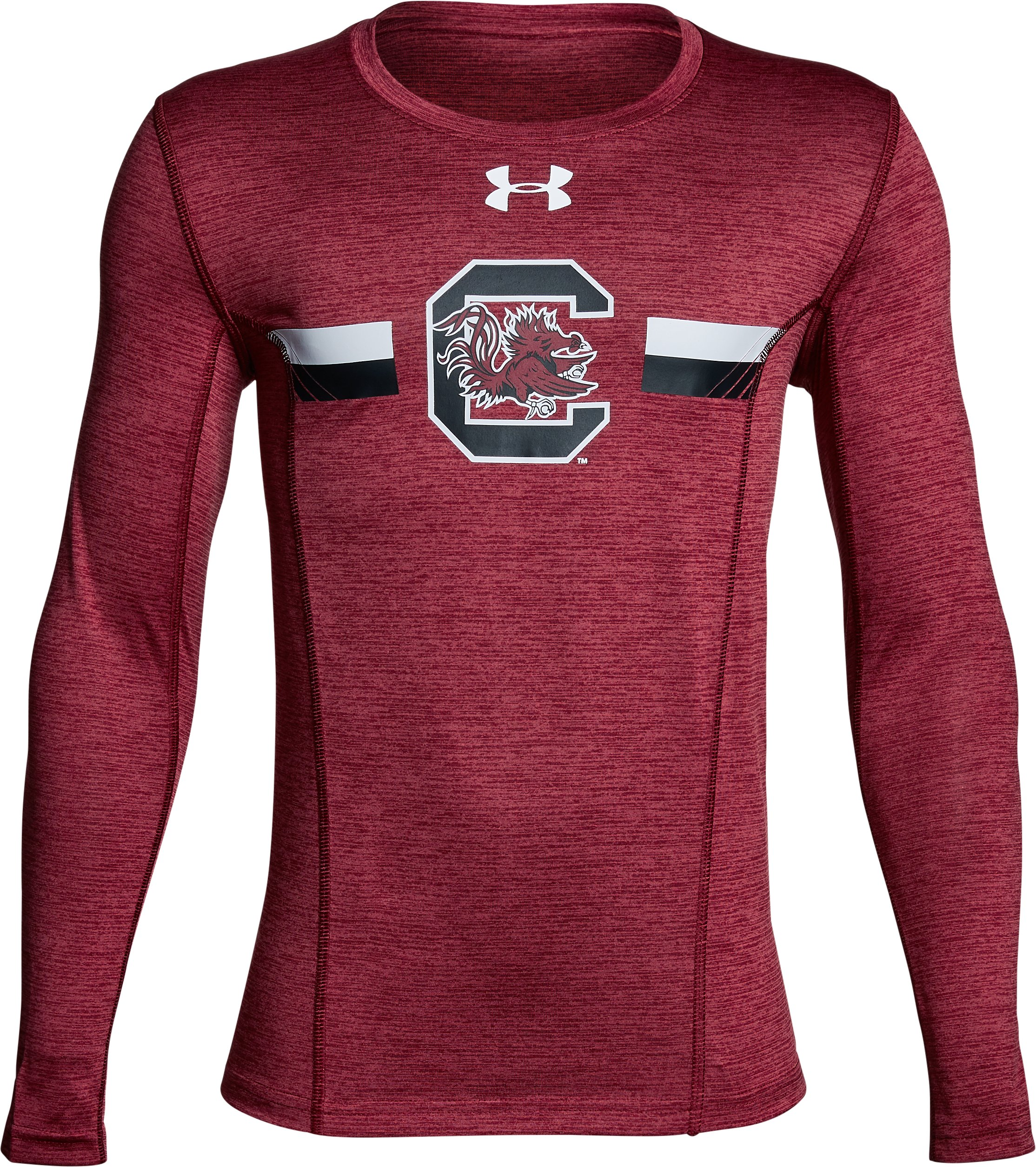 Boys' South Carolina Long Sleeve Training T-Shirt, Garnet, undefined