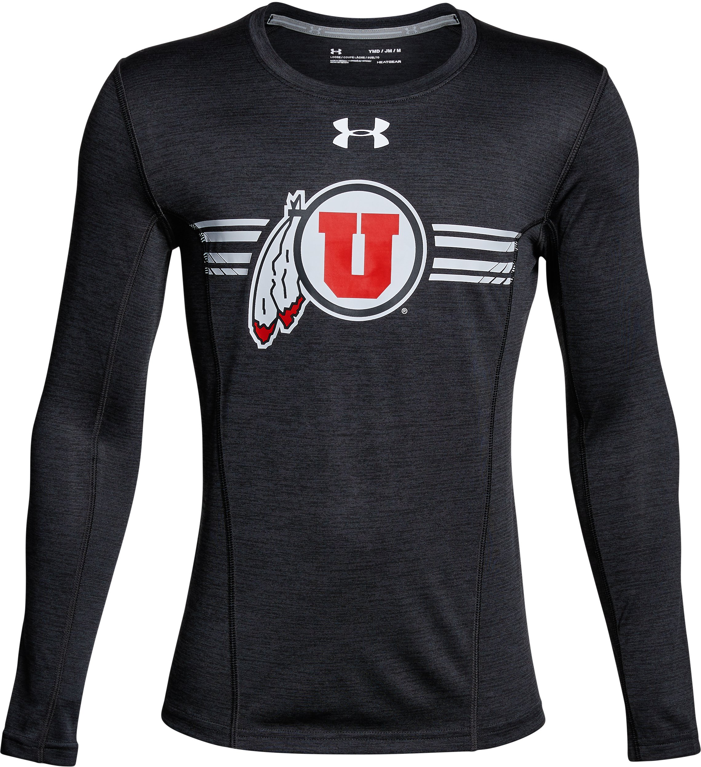 Boys' Utah Long Sleeve Training T-Shirt, Black ,