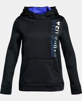 New to Outlet Girls' Armour Fleece® Fit Squad Hoodie  2 Colors $33.74