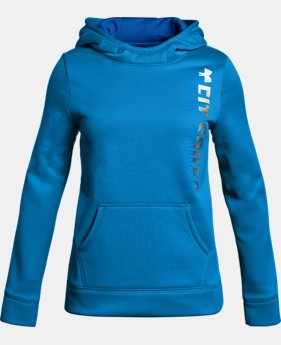 New to Outlet Girls' Armour Fleece® Fit Squad Hoodie   $33.74