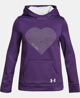 New to Outlet Girls' Armour Fleece® Heart Hoodie  1 Color $33.74