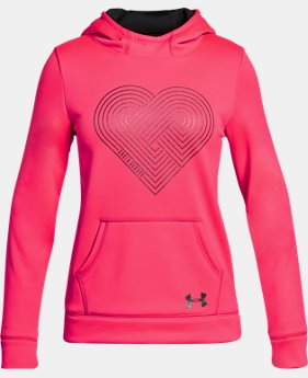 Girls' Armour® Fleece Heart Hoodie LIMITED TIME OFFER 2 Colors $29.99