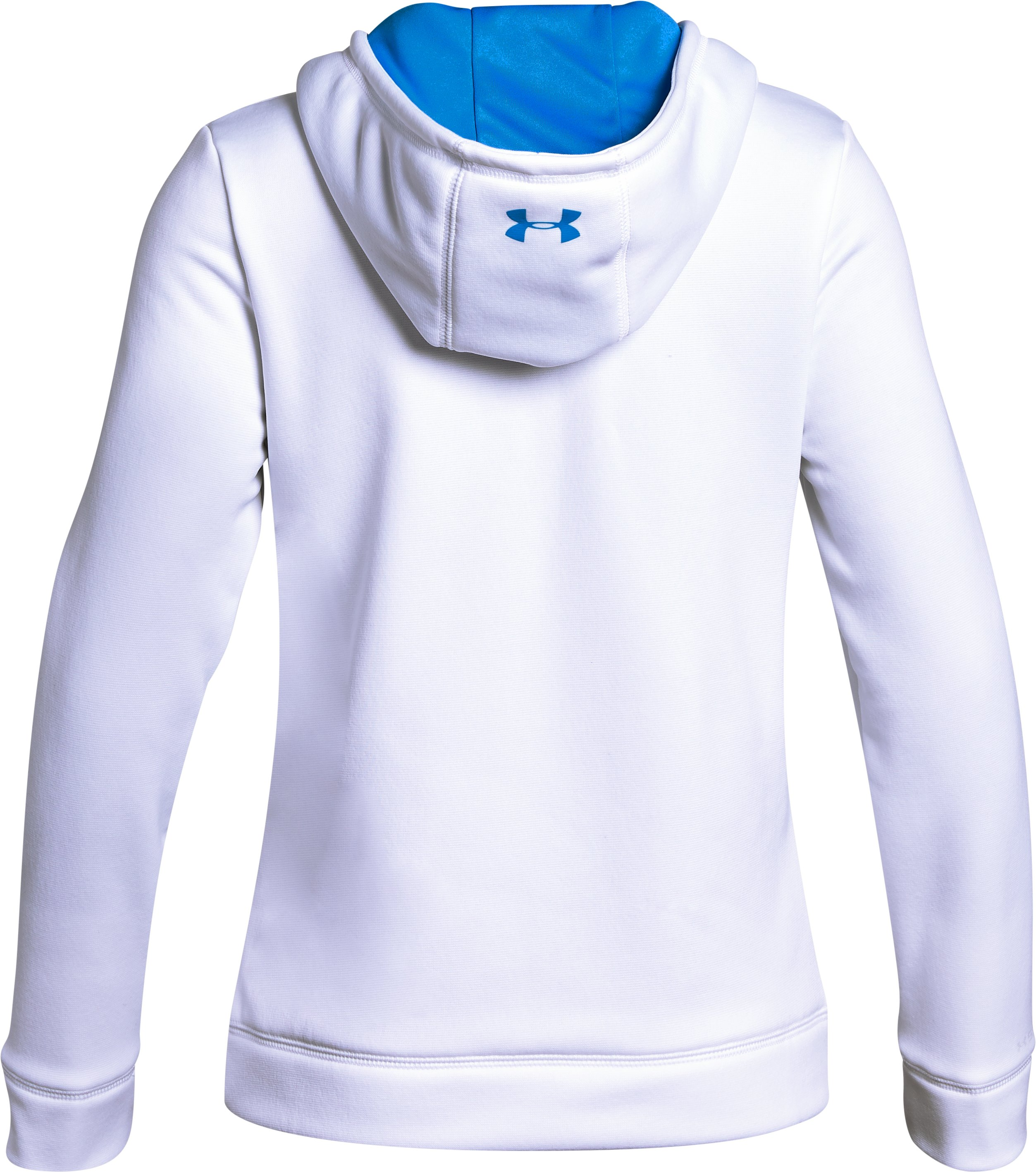 Girls' Armour Fleece® Athlete Hoodie, White,