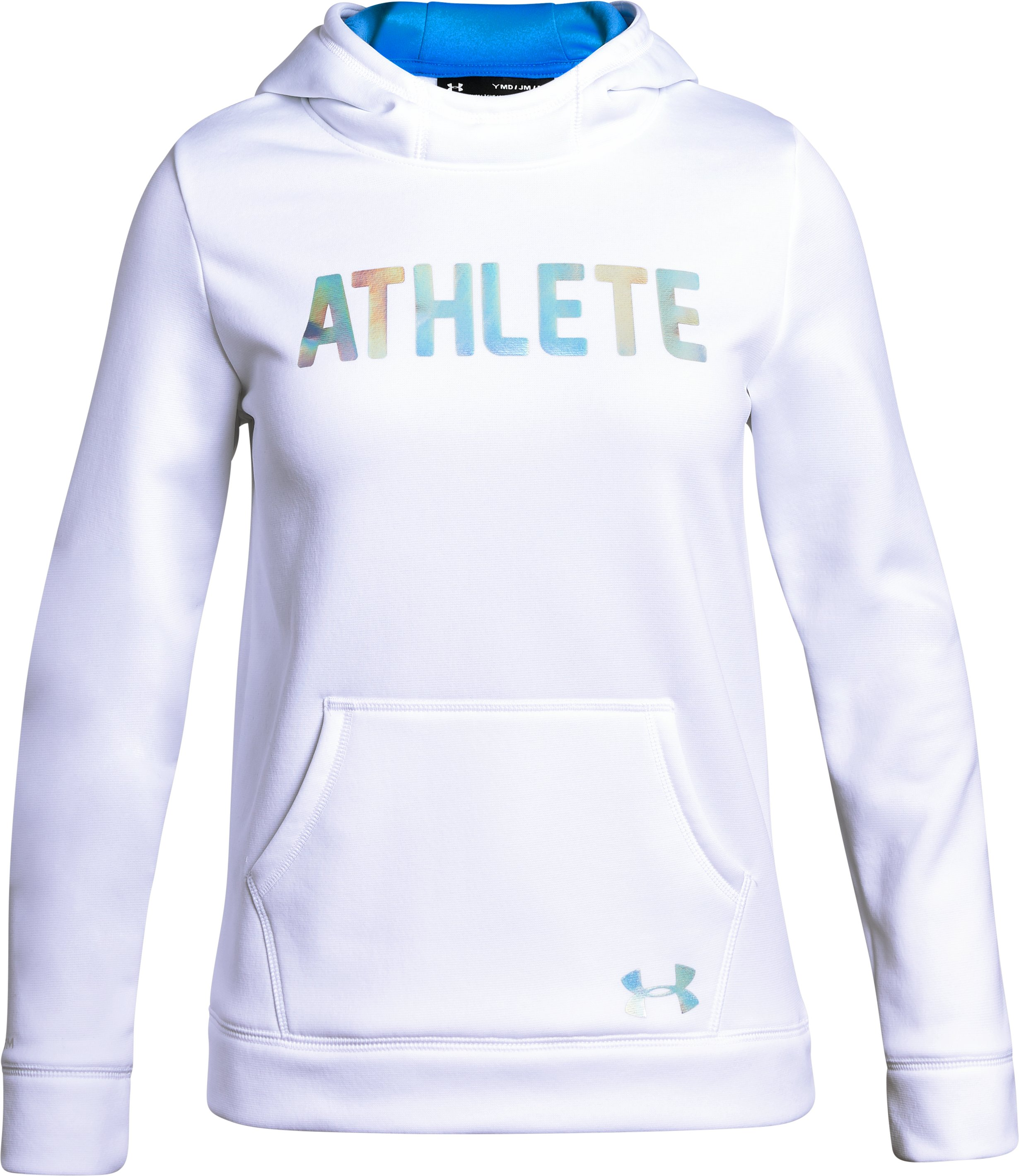 Girls' Armour Fleece® Athlete Hoodie, White