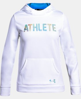 New to Outlet Girls' Armour Fleece® Athlete Hoodie  1 Color $33.74