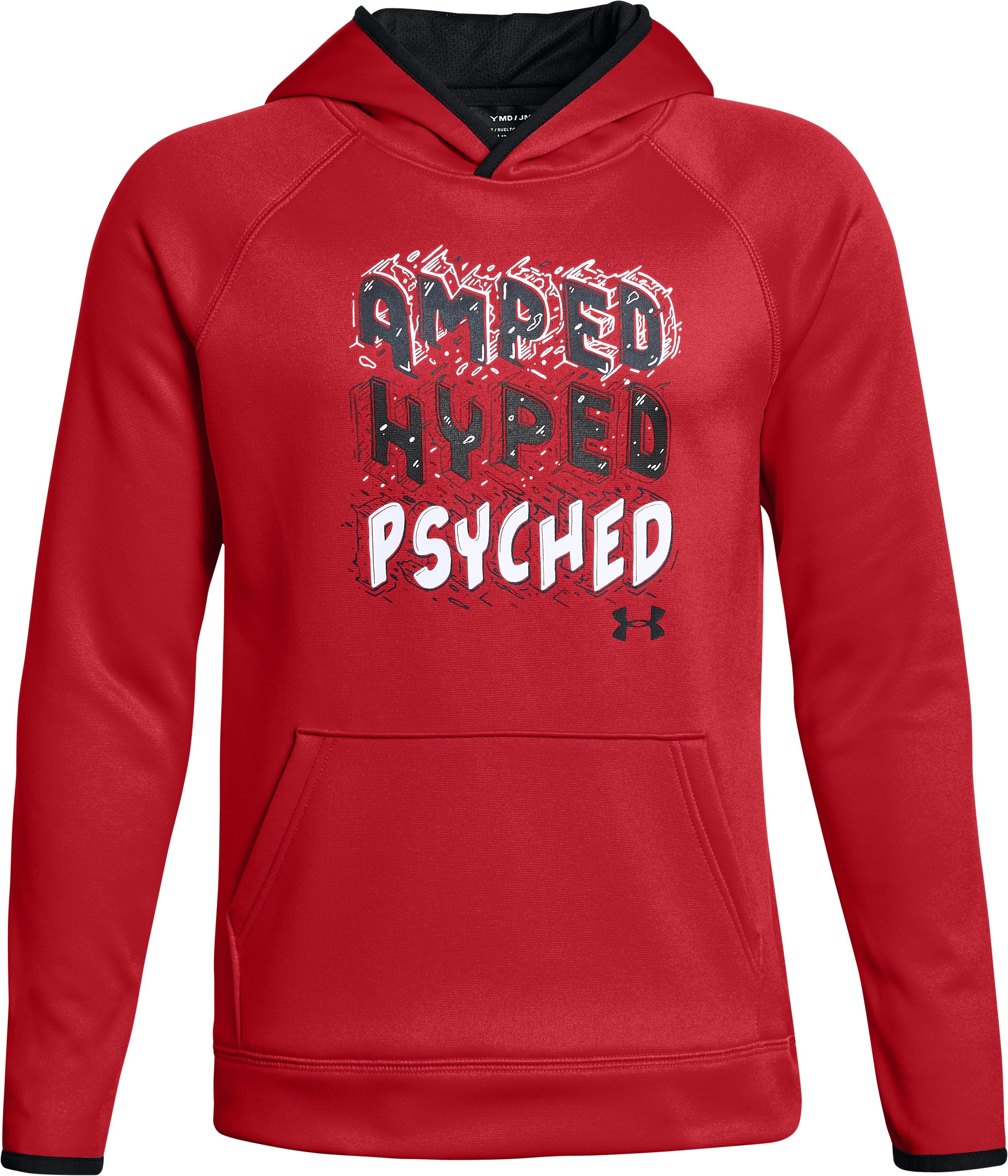 Boys' Armour Fleece® Amped Hoodie, Red, undefined