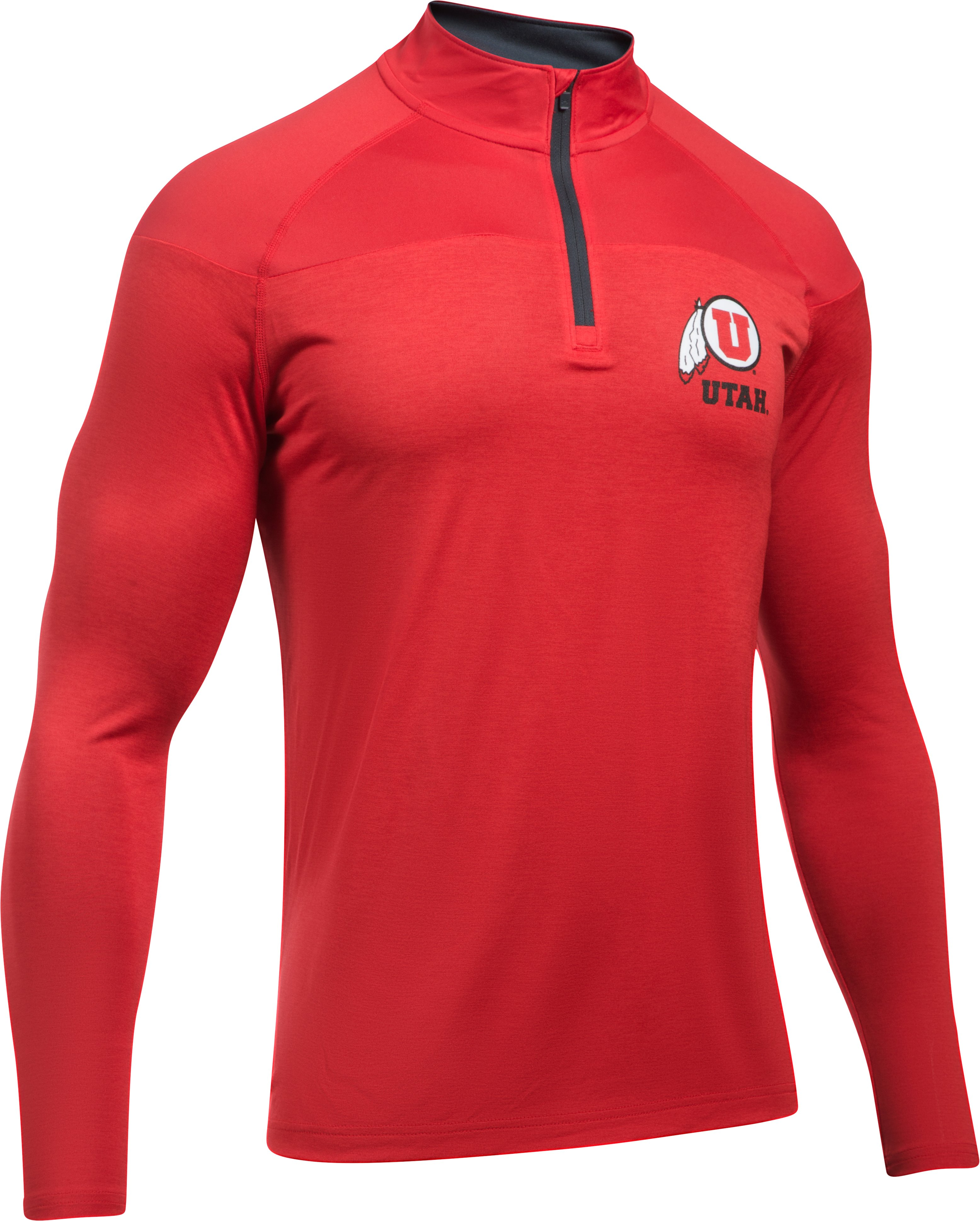 Men's Utah Printed ¼ Zip, Red,