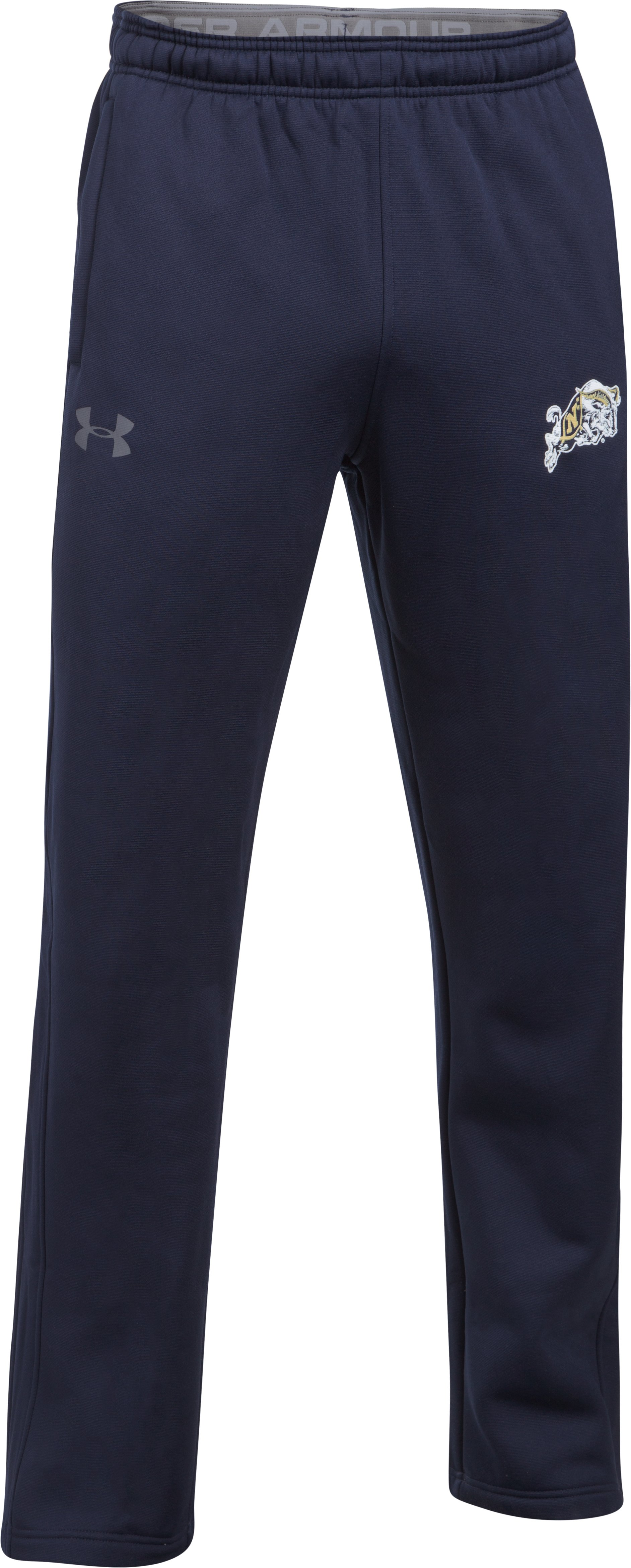 Men's Naval Academy Armour® Fleece Pants, Midnight Navy, undefined
