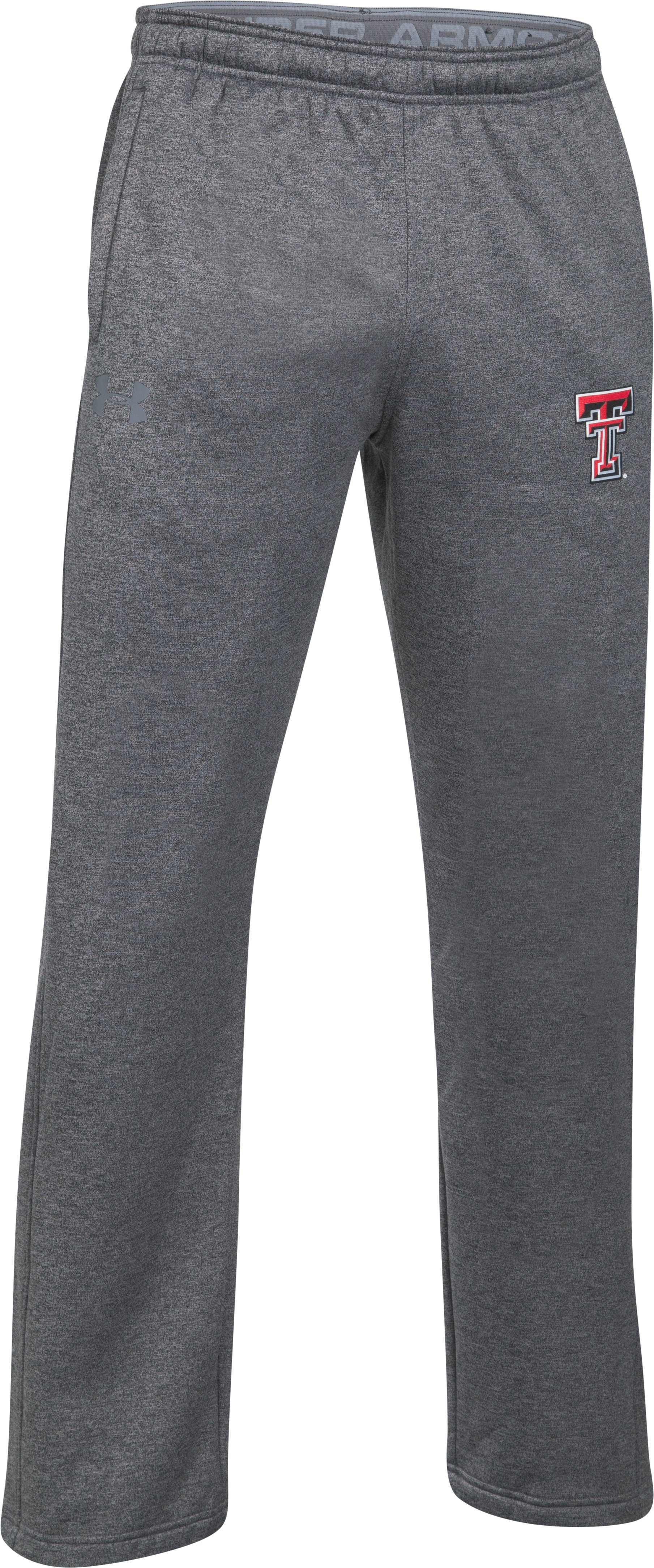 Men's Texas Tech Armour® Fleece Pants, True Gray Heather