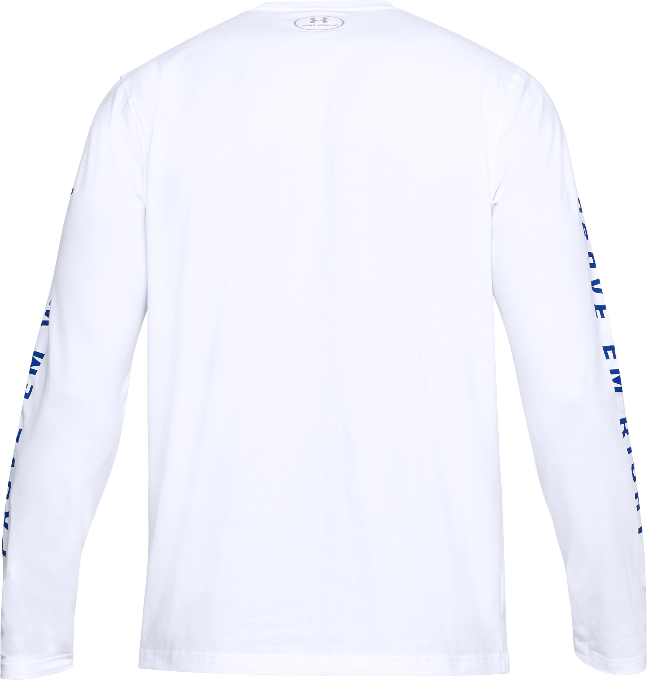 Men's TB12 UA 199 Long Sleeve T-Shirt, White,