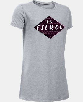 Girls' UA She Plays We Win Fierce T-Shirt  1 Color $19.99