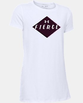 New to Outlet Girls' UA She Plays We Win Fierce T-Shirt  1 Color $13.99