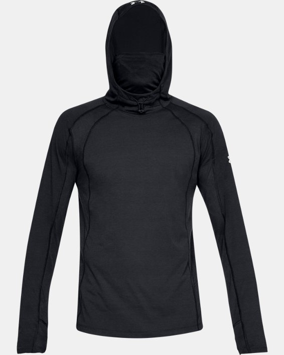 Men's UA Microthread Swyft Facemask Hoodie, Black, pdpMainDesktop image number 3