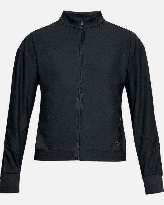 Women's UA RECOVER™ Balance Track Jacket, Black, pdpMainDesktop image number 3