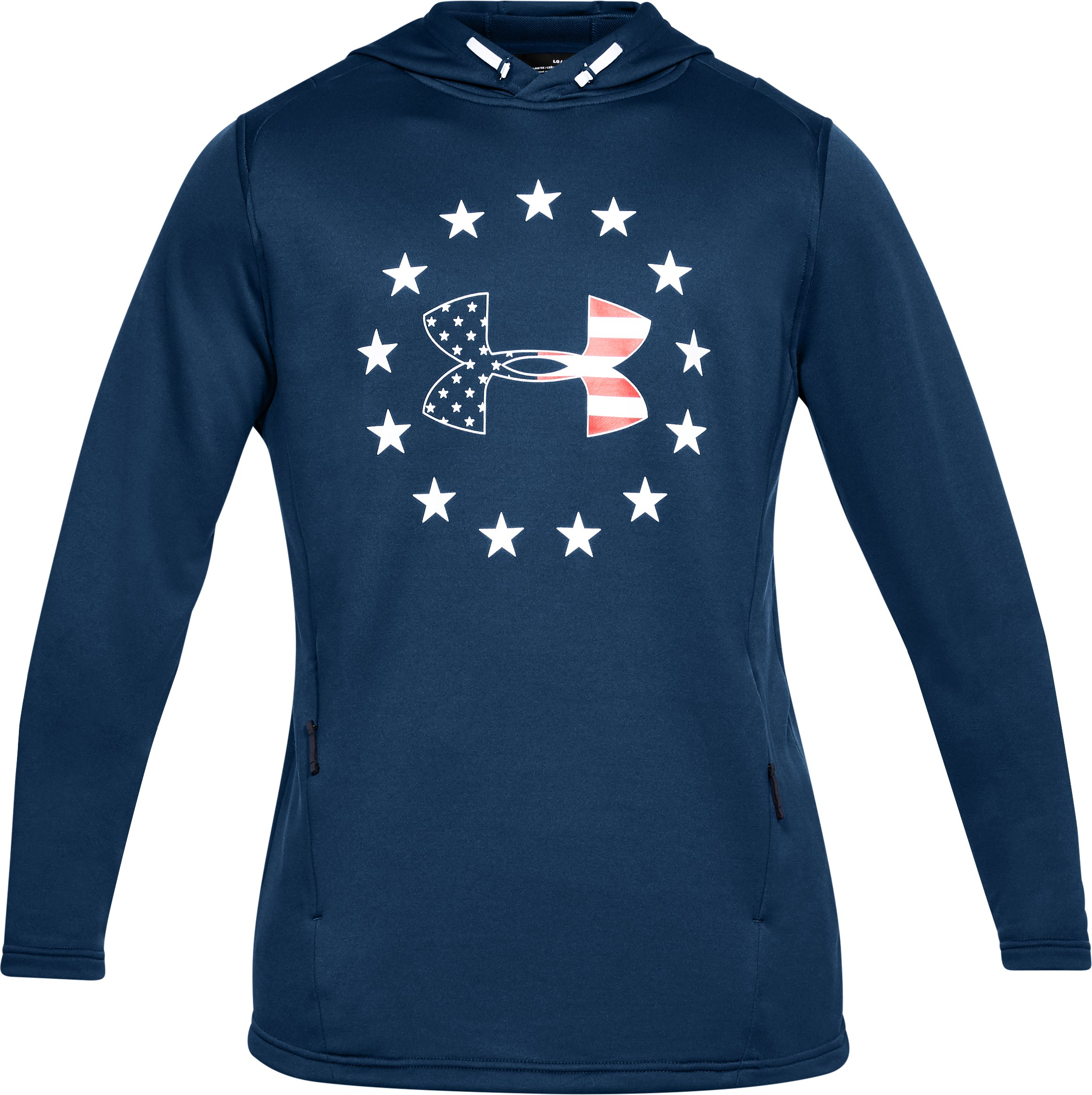 Men's UA Freedom Tech™ Terry Hoodie, BLACKOUT NAVY,