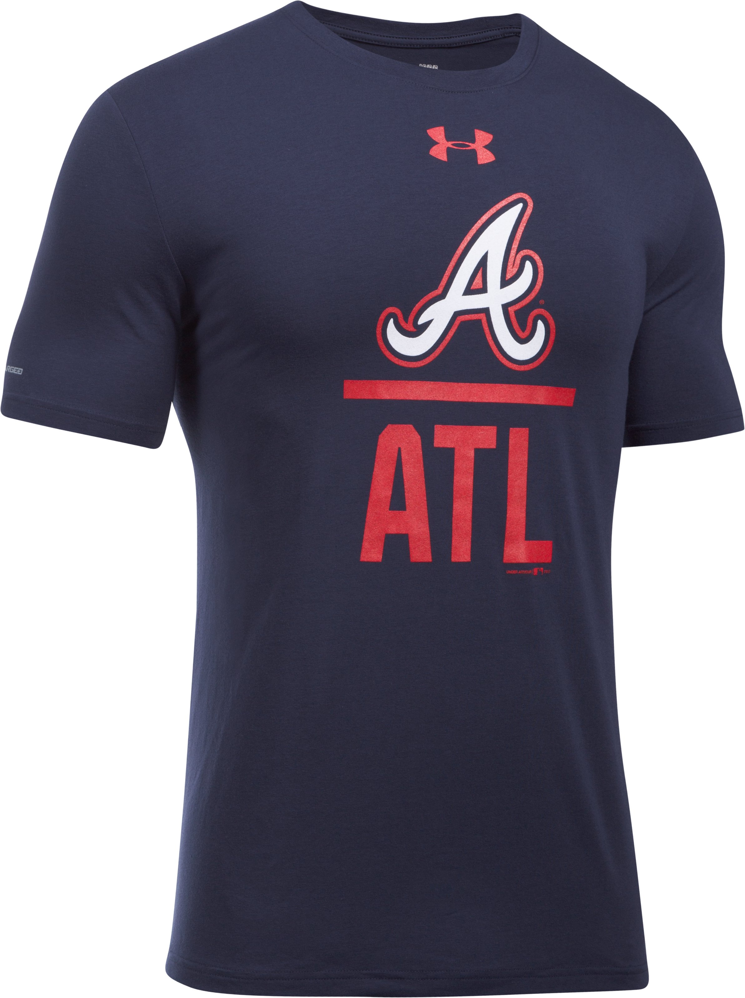 Men's Atlanta Braves Lockup T-Shirt, Midnight Navy,