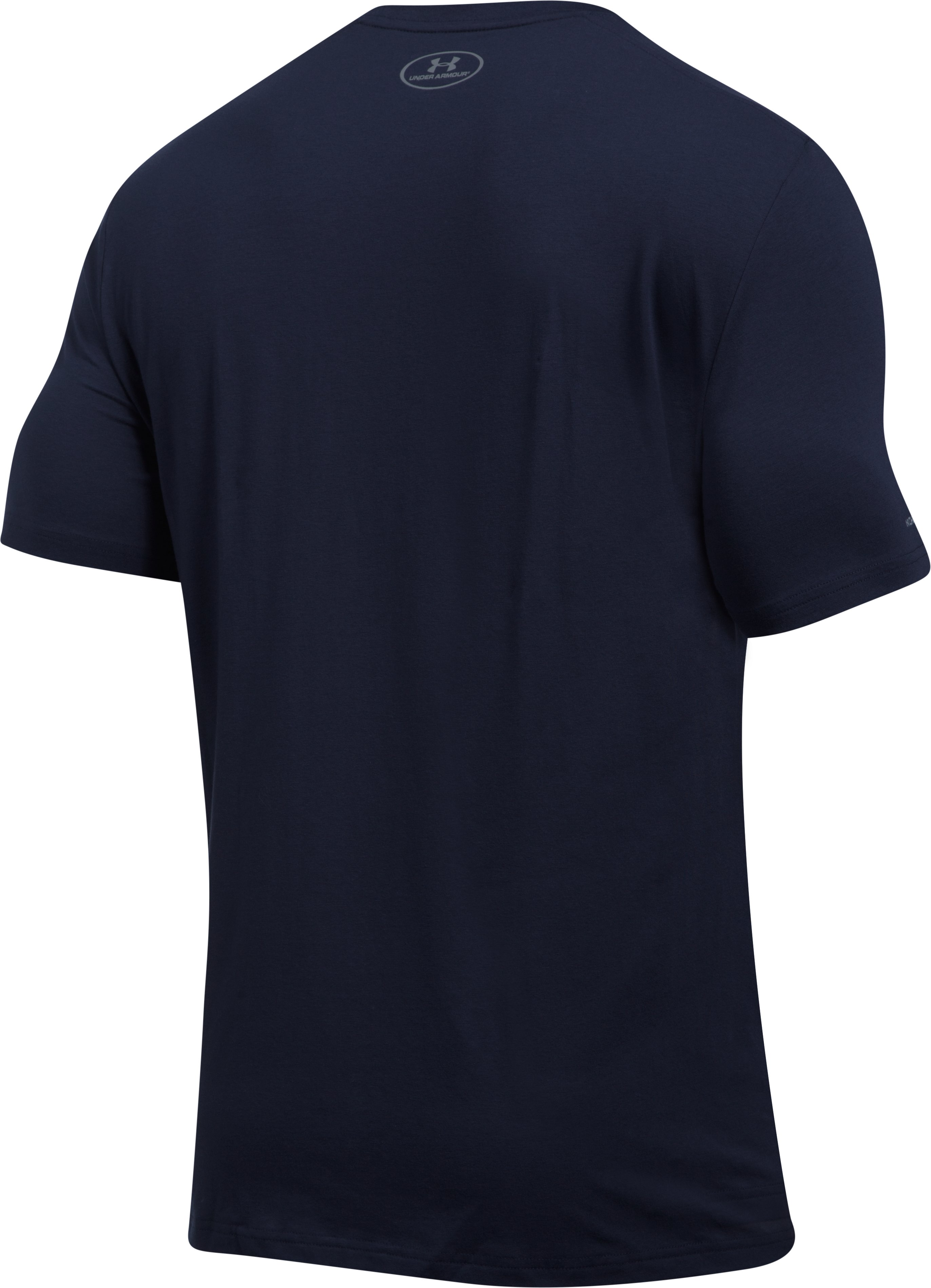Men's New York Yankee Lockup T-Shirt, Midnight Navy, undefined