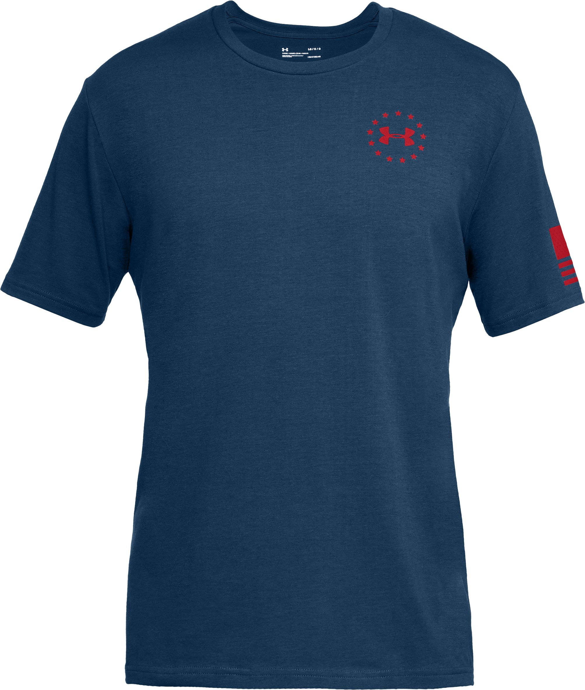 Men's UA Freedom Express Flag T-Shirt, BLACKOUT NAVY,