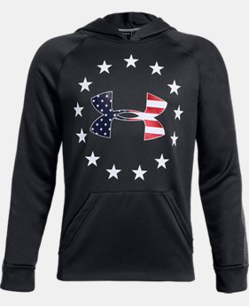 New Arrival Boys' UA Freedom Tech™ Terry Hoodie FREE U.S. SHIPPING 1  Color Available $45