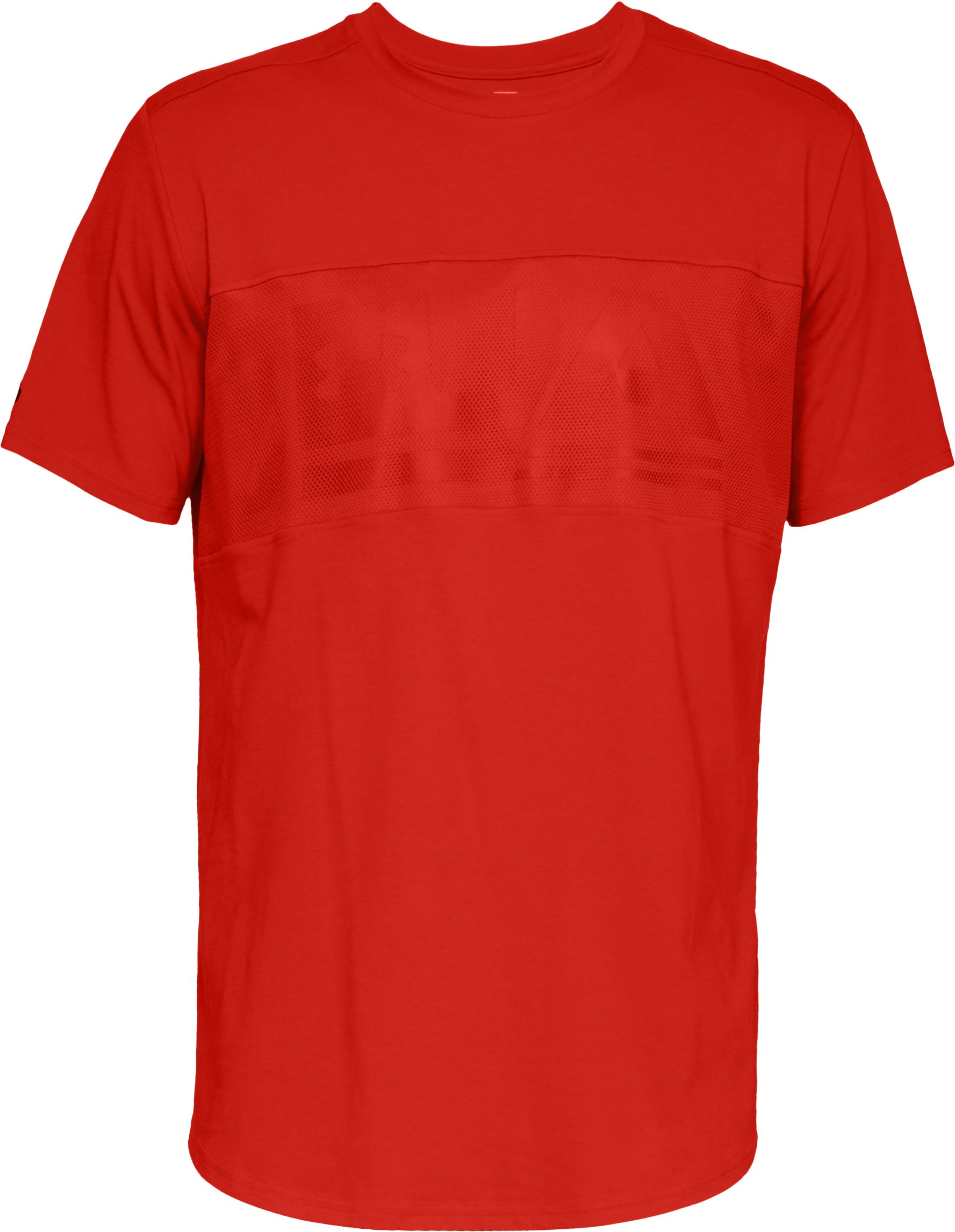 Men's UA Graphic Mesh T-Shirt, Radio Red,